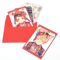 Akiakane Postcard Set: Red