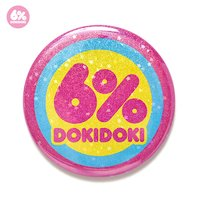 6%DOKIDOKI Glitter Star Logo Tin Badge
