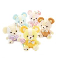 Candy Teddy Bears Colorful Pop Plush Collection (Standard)
