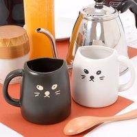 Black Cat & White Cat Pair Mugs