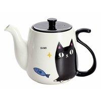 Three Cat Siblings Tail Teapot