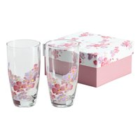 Hana Hitohira Flower Petals Iced Coffee Glass Set