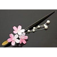 Pink Sakura Hairpin