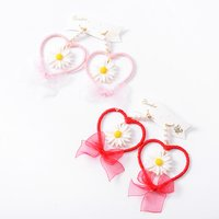 Swankiss Daisy Heart Earrings