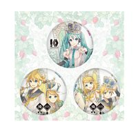 Hatsune Miku & Kagamine Rin/Len 10th Anniversary Tin Badge Set