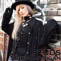 ACDC RAG Studded Shirt-Style Cardigan
