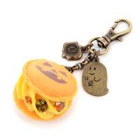 Marché du Q-pot. Jack-o'-lantern Macaron Bag Charm