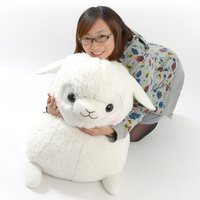 Baby Alpacasso Alpaca White Plush (Super Jumbo)