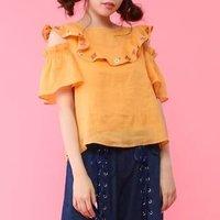 Honey Salon Embroidered Floral Linen Blouse