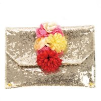Raghbishwa Mixed Flowers Sequin Clutch