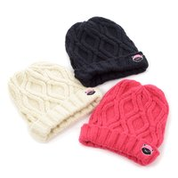 Cuelitt Cable Knit Pigtails Beanie