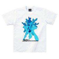 Mega Man 30th Anniversary Blue Gradation Art T-Shirt