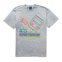 King of Games Super Famicom Gray T-Shirt w/ Collector's Box & Logo Badge