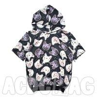 ACDC RAG Short Sleeved Oversize Cat Hoodie