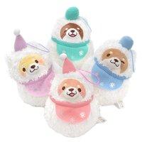 Chuken Mochi Shiba Snowman Plush Collection (Mini Strap)