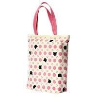 Polka Dots & Cats Large Tote Bag