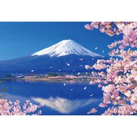 Mt. Fuji & Blooming Cherry Blossom Lake Jigsaw Puzzle