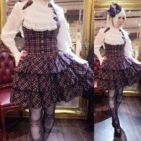 Atelier Pierrot Vest Plaid Dress