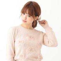earth music&ecology Organdy Ribbon Pullover