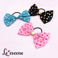Le cocone Big Ribbon Dot Pattern Hair Band