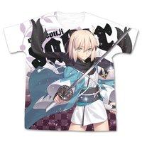 Fate/Grand Order Saber/Okita Souji Graphic White T-Shirt