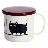 Three Cat Siblings Lacquerware March Mug w/ Lid