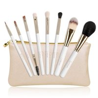 DUcare Cosmetic Brush Set w/ Gold Cosmetics Bag