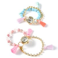 Honey Salon Colorful Tassel Bracelet Watch