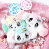 Peropero Sparkles Plush Face Pass Cases