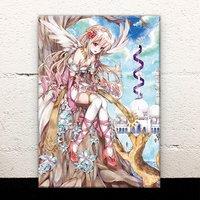 A Girl and a Baby Jackal Acrylic Art Board