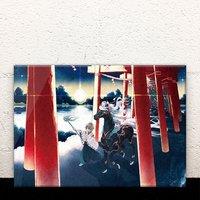 A Road at Sunrise Acrylic Art Board