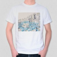 "Illustrated T-Shirt: hebitsukai's ""The Strength of Coexisting with Trying Waters"""