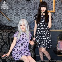 LISTEN FLAVOR Bat Embroidered Dress