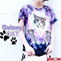 ACDC RAG Galaxy Cat T-Shirt
