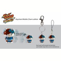 Sanrio x Street Fighter Keychains