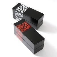 Sakurako Slim Square 2-Tier Bento Box