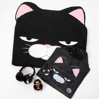 Hige Manjyu Kuromame the Grumpy Black Cat Set