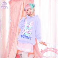 LISTEN FLAVOR Bunny Cupcake Hoodie