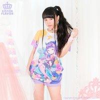 LISTEN FLAVOR x Tatsumi Tsurushima Moonlit Roses Punk Girl Collab T-Shirt