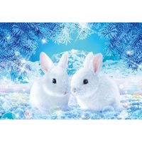 Rabbits Waiting for Spring Jigsaw Puzzle