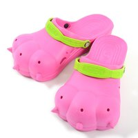 Akiba Sandals - Cherry Pink x Yellow-Green