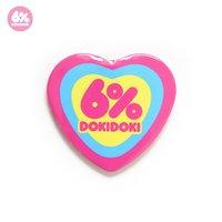 6%DOKIDOKI Logo Heart-Shaped Badge