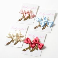 Pinkymika Satin Ribbon & TOGE Heel Earrings