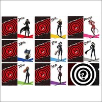 Persona 5 the Animation A4 Trading Clear File Collection