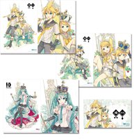 Hatsune Miku & Kagamine Rin/Len 10th Anniversary A4 Clear File + Sticker Set