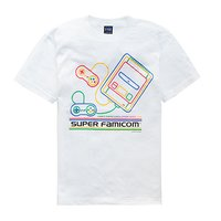 King of Games Super Famicom White T-Shirt w/ Collector's Box & Logo Badge