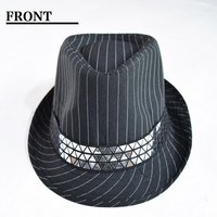 ACDC RAG Striped Studded Fedora