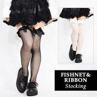 ACDC RAG Fishnet & Ribbon Stockings