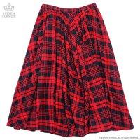 LISTEN FLAVOR Checkered Maxi Skirt