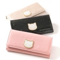 Pooh-chan Embossed Enamel Long Wallet